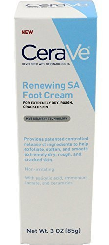 Cerave Renewing Sa Foot Cream, 3 Ounce