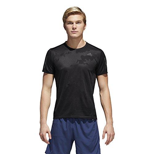 adidas Mens Running Response Short Sleeve Tee, Black, Medium