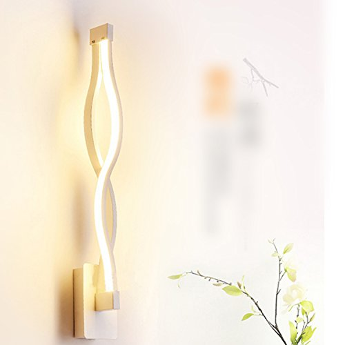 LightInTheBox Modern/Contemporary LED Wall Lamps Sconces Aluminum Wall Light Ambient Light Wall Lighting Fixture Bulb Included (White, Warm White)