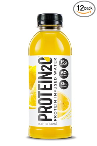 Protein2o Low-Calorie Protein Infused Water, 15g Whey Protein Isolate, Classic Lemonade (16.9 Ounce, Pack of 12)