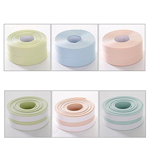 Jazdnzvr 1 cinta adhesiva impermeable, a prueba de moho para cocina, tiras de protección para el hogar, Verde, 260*3cm
