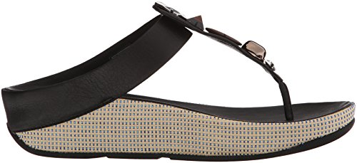 Fitflop Jeweley Toe Post Damen Sandalen Schwarz