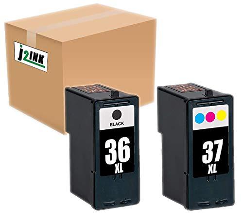 INKTONER 2x For Lexmark 36 Black 37 Color Ink Cartridge For X5650 X6650 Printer ()