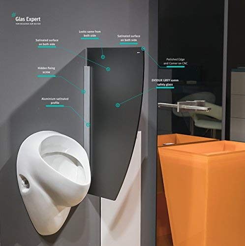 Glass Expert Glass Urinal Partition S1 White 45 X 80