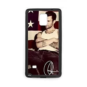 Unique Printing Skin Shell Adam Levine Maroon 5 Pattern Phone Case for SamSung Galaxy Note4,PC+PC Material Diy Cover Case s6-linda21