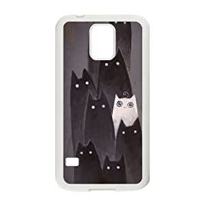 cute cat Customized Cover Case for SamSung Galaxy S5 I9600, Customized cute cat Cell Phone Case