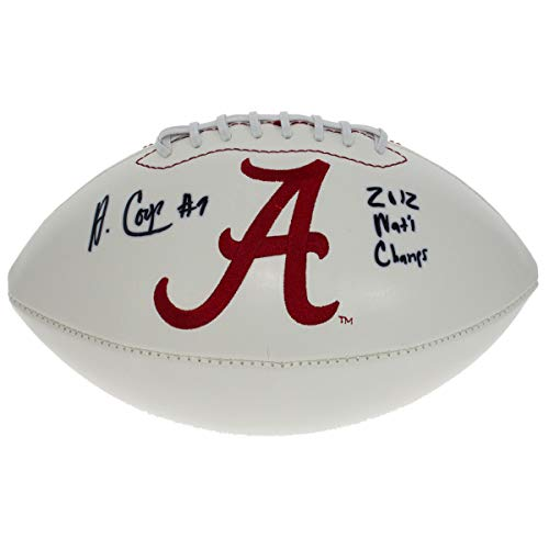 Amari Cooper Autographed Signed Alabama Crimson Tide White Panel Football - 2012 National Champs - JSA Certified Authentic