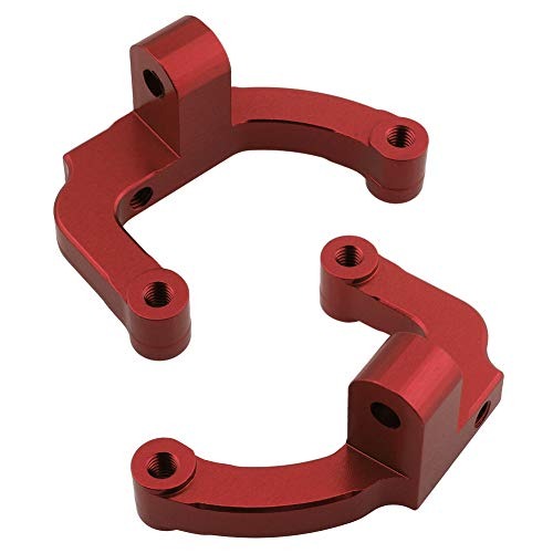 Hobbypark Aluminum Center Link Ball Mounts for Redcat Everest-10 1/10 RC Rock Crawler Car Replacement of 180001 Upgrade Parts (Set of 2) (Red)