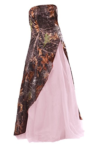 Gown Camo Avril Evening Strapless Prom Layered Dress Dress Pink 0qwgqx4