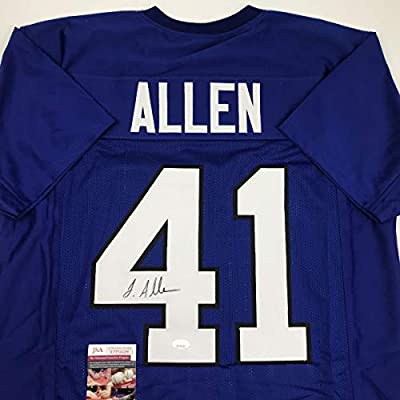 Autographed/Signed Josh Allen Kentucky Blue College Football Jersey JSA COA