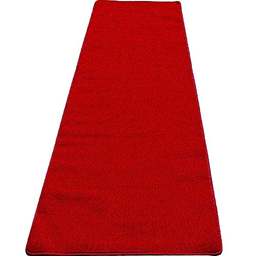Mybecca High Class VIP Quality Persian RED Carpet Aisle Runner for Parties & Hollywood-Feel Events, 2 x 10 ft (1ft.8 x 10 ft) Wedding and Ceremony red Carpet (2x10, Red)]()