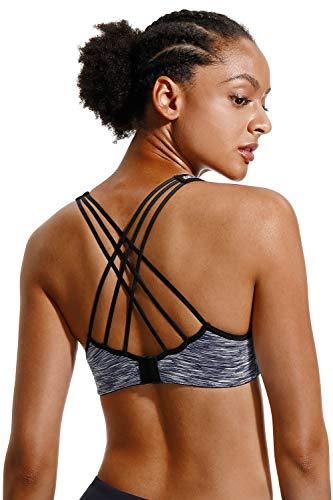 V FOR CITY Womens Running Sports Bra Yoga Workout Sports Bra Medium impack Workout Sports Bra Size M
