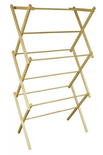 "Wooden Folding Drying Rack (natural) (50""H x 27""W x 15""D)"