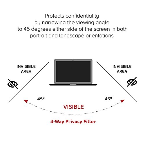 Celicious Privacy Plus 4-Way Anti-Spy Filter Screen Protector Film Compatible with Dell Inspiron 13 7373 by Celicious (Image #3)