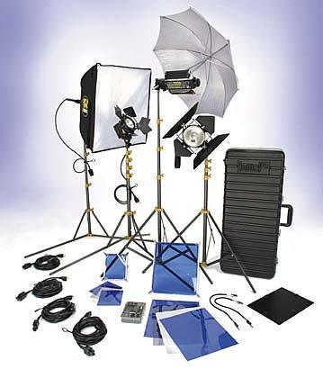 Lowel DV Creator 55 Kit, Analog & Digital Video Lighting Location Kit, with TO-83 Case