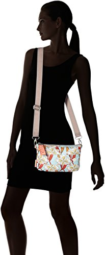T Mhz Turquoise B Ruffles 1 Turquoise 2x15x25 x Shoulder Women's Light H Bag Oilily Ornament Shoulderbag cm Rxt81xqa