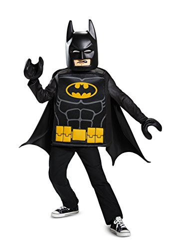 Disguise Batman Lego Movie Classic Costume, Black, Large (10-12)