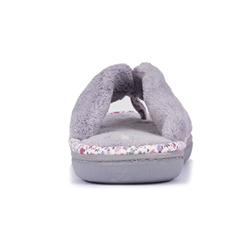 Zapatillas chancletas Liberty para mujer Isotoner Gris