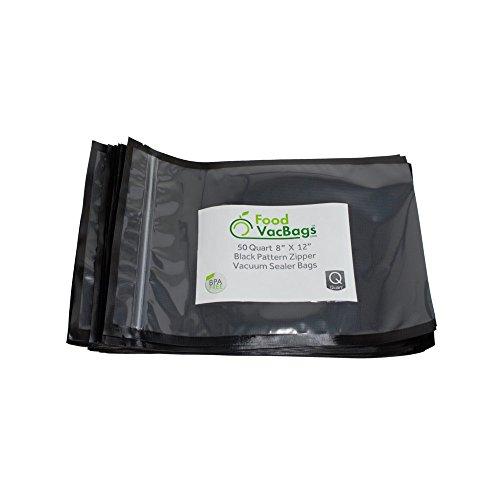Foodsaver Compatible Black&Clear Vacuum Sealer Bags