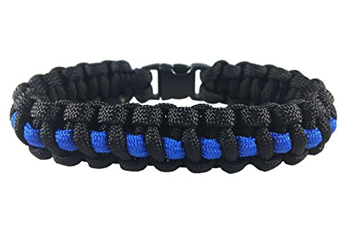 Survival Thin Blue Line Paracord (Youth - 6 Inch Wrist, 7 Inch Length)