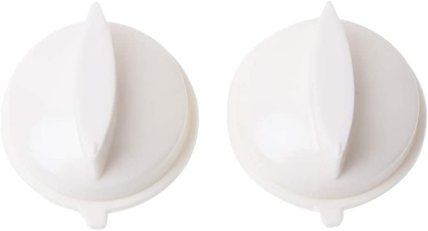 jiheousty Interruptor de Control de plástico de Temporizador de Perilla giratoria de Horno de microondas de 2 Piezas para Medios universales