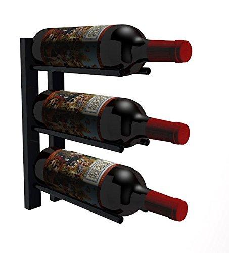 Ultra Wine Racks Cork Out 3 Bottle Display Wall Mounted Wine Rack (Satin (3 Wine Corks)