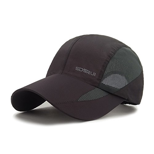 LETHMIK Sport Cap Summer Quick-drying Sun Hat Unisex UV Protection Outdoor Cap New Grey
