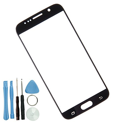 Sunways Front Outer Screen Glass Lens Replacement for Samsung Galaxy S6 G9200 G920A G920V G920F G920P (Black)