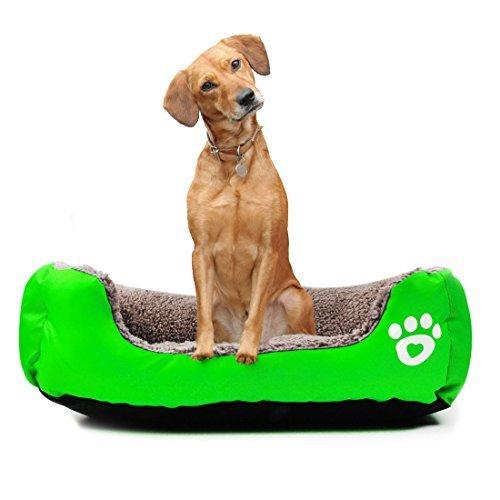 eDealMax reversibile rettangolo Bed Cane cucciolo Cuscino Cestino con zampa del Cane Stampato