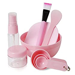 The size of the bowl is perfect for applying your masks on. The measuring spoons are sturdy; perfect for measuring your powders in the bowl. The brush is perfect for applying your mask and does not feel cheap and washes out very well and the bristles...