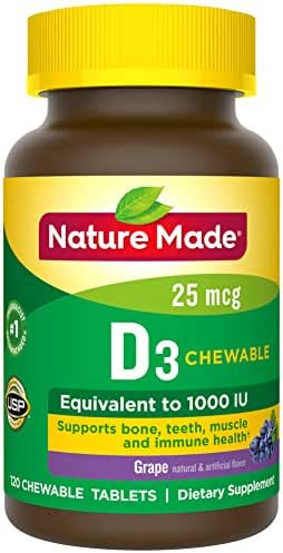 Vitamins & Supplements: Nature Made Vitamin D3 Adult Chewables