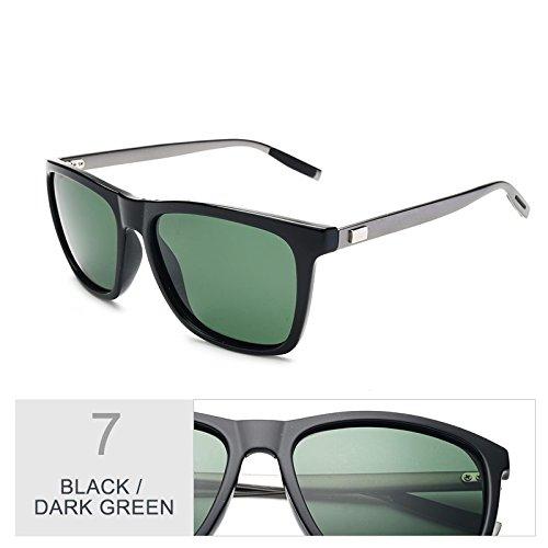 Con De De La Protección Sol TIANLIANG04 DarkGreen De De Patas Guía Gafas De Gafas Black Aluminio De Cuadrados Uv400 Visión Polarizadas Hombres Verdeoscuro Gafas Negro Nocturna Envuelva Sol aqEPvq