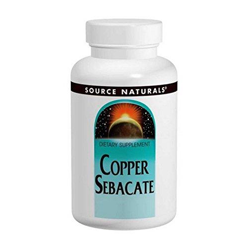 Source Naturals - Copper Sebacate W/3mg Copper Elem, 22 mg, 120 tablets