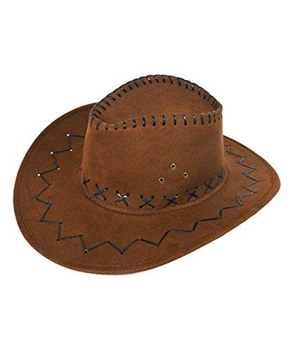 Stitch Design Cowboy Hat (L/XL, Brown) (Stitch Fedora)