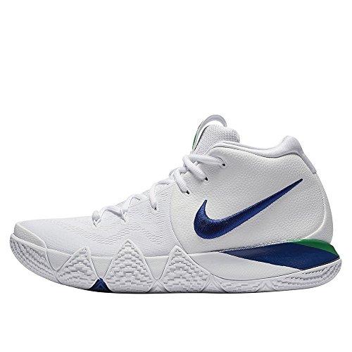 Nike Men's Kyrie 4 Basketball Shoes (13, White/Deep Royal Blue)