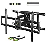 USX MOUNT Full Motion TV Mount Wall Bracket with Articulating Arms for 42'-80' Flat Screen LED LCD 4K TV, Tilt Swivel TV Mounts with Max VESA 600x400mm, Weight Capacity 99lbs Up to 24' Wood Stud