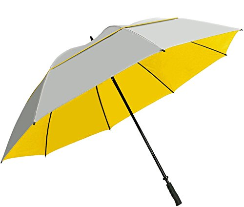 "Suntek 68"" Reflective UV Protection Windcheater Umbrella with Vented Double Canopy ()"