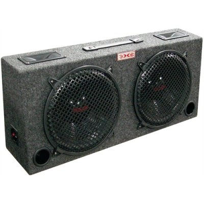 12 Theater Boxes - Xxx kic120 (2) Dual 12 Car Audio Subwoofer Sub Box W/ 5 Tweeters
