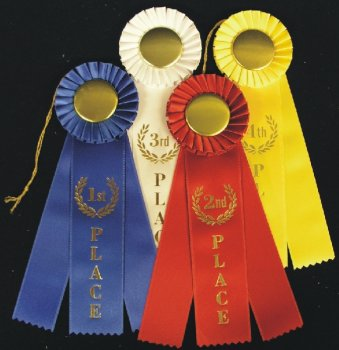 Excellent (Purple) Rosette Ribbons - 3 Streamer by Unknown (Image #1)