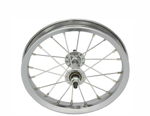 12 1/2'' x 2 1/4'' Steel Front Wheel 14G Chrome. Bicycle wheel, bike wheel, bike part, bicycle part by Lowrider
