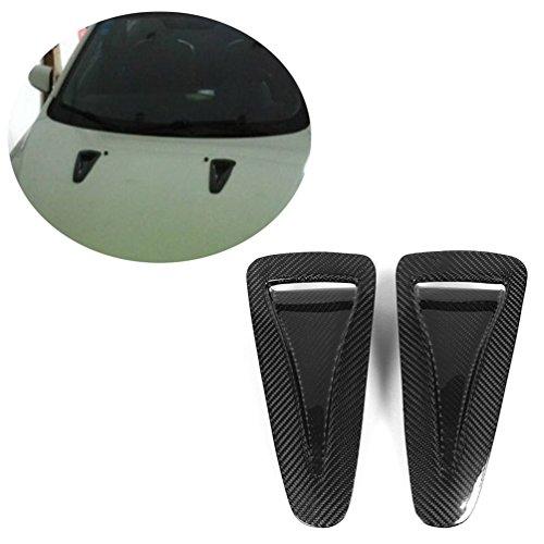 R35 Carbon Fiber - JCSPORTLINE Carbon Fiber Decorative Air Flow Intake Turbo Bonnet Hood Scoop Vent Stickers Trims for Nissan R35 GTR