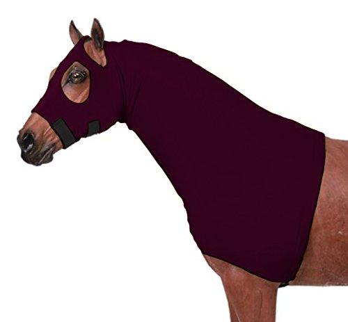 - Horse Sleazy Full Separating Zipper Slicker Hood Medium/Burgundy