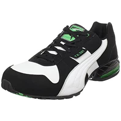 PUMA Men's TX 301 RN Sneaker,Black/White/Kelly Green,8 D(M) US
