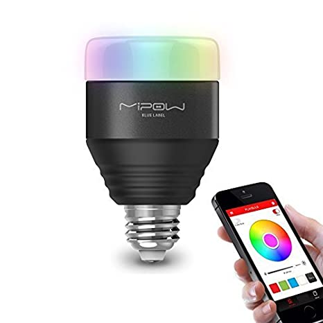 iphone controlled lighting. MIPOW E26 Bluetooth Smart LED Light Bulbs APP Group Controlled Dimmable Color Changing Decorative Christmas Party Iphone Lighting N