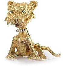 Buccellati 18K Yellow Gold Wild Cat Precious Gemstone Brooch