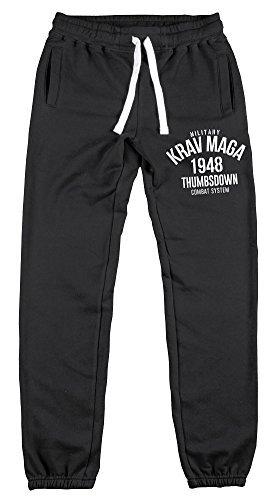 Pantaloni da jogging con risvolto orlo MILITARE KRAV MAGA combattimento sistema. thumbsdown joggers. pantaloni. PALESTRA allenamento. sportswear. running. casual.