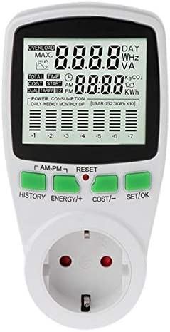 Mucjun Leistung Energieverbrauch Wattmeter Stromverbrauch Monitor Steckdose Genau Eu Stecker
