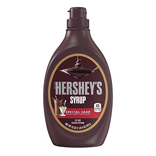 HERSHEY'S Dark Chocolate Syrup, 22oz, Special Dark