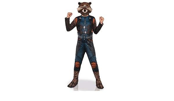 Generique - Disfraz con máscara Rocket Racoon niño 3 a 4 años (90 ...