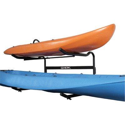 Stoneman Sports G-100 Glacik Freestanding C-Deck Double Kayak and SUP Storage Rack, Single Sided, Black Finish